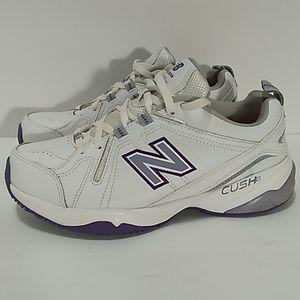 New Balance 608 v4 White Purple Sz 8